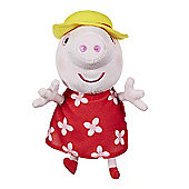 Peppa Pig Supersoft Holiday Peppa with Hat Soft Toy