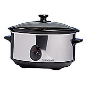 Morphy Richards 48710 Oval Slow Cooker Stainless Steel 3.5L