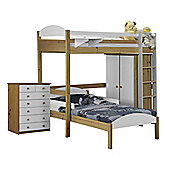 Maximus L Shape High Sleeper Set 2 Antique With White Details
