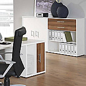 Teknik Office Mura Desk High Storage Unit in Walnut