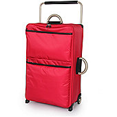 IT Luggage World's Lightest Suitcase, Red Large