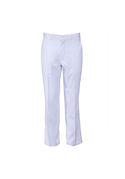 Woodworm Dryfit Flat Front Golf Trousers - White