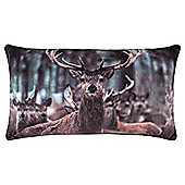 Croft Christmas Stag Photographic Cushion