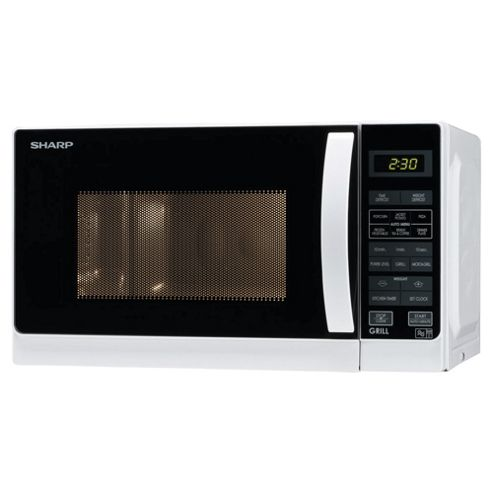 Sharp Microwave Oven with Grill R662WM Compact 20L, White