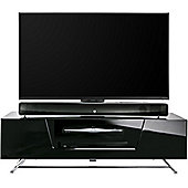 Alphason Chromium Black Cantilever TV Stand for up to 60 inch TVs