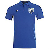 2014-15 England Nike Core Polo Shirt (Blue) - Blue