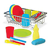 Melissa and Doug Let's Play House Wash & Dry Dish Set