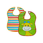 B Baby's Safari Crumb Catcher Bibs - 2 Pack