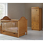 Obaby B is for Bear Cot Bed, Drawer, Single Wardrobe Room Set
