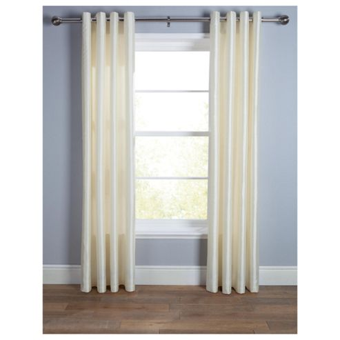 Tesco Faux Silk Eyelet Curtains W163xL229cm (64x90