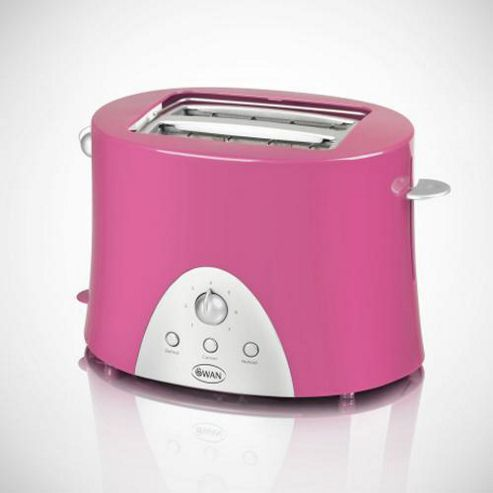 Swan ST10030PIN 2 Slice Pink Toaster