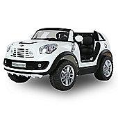 Mini Cooper Beachcomber Licensed 12v 2 Seater Ride On Car - White