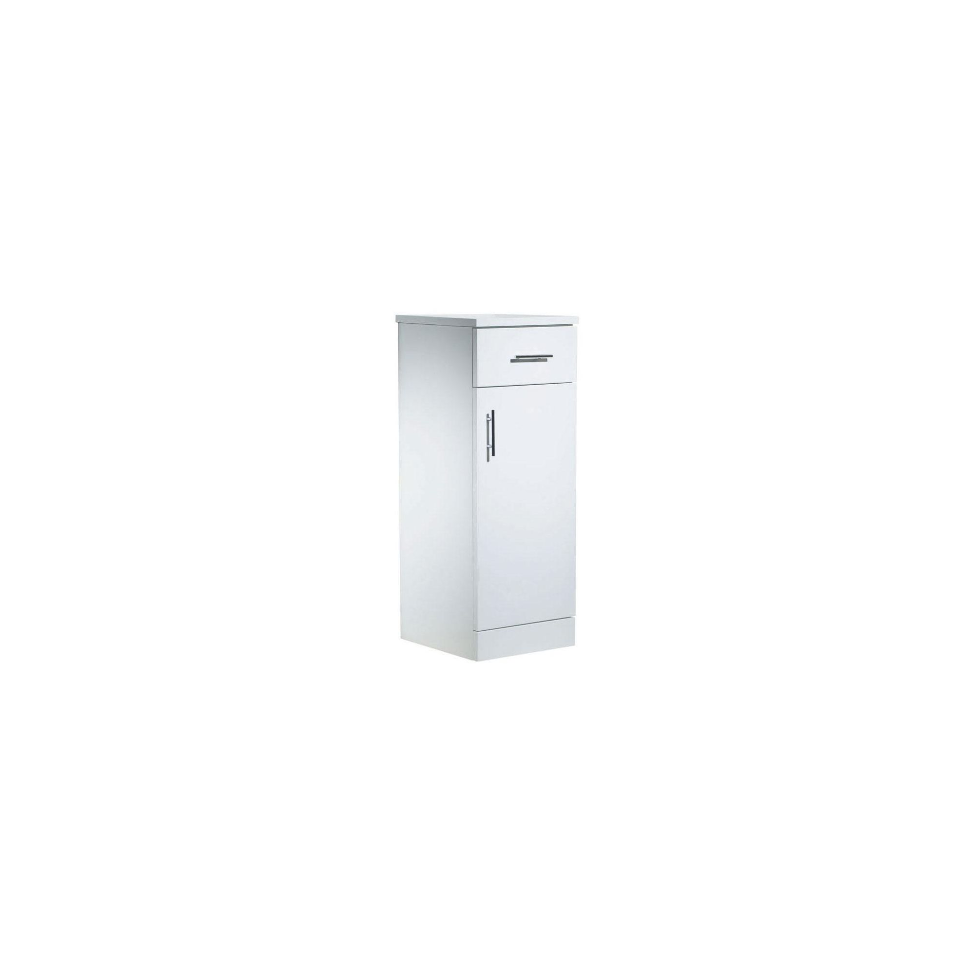 Tavistock Evolution White Floor Standing Storage Unit - 300mm Wide