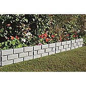 Brick Effect Garden Border Fence Panels, 4 pack, 42x25cm