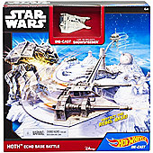 Hot Wheels Hoth Set with Snowspeeder