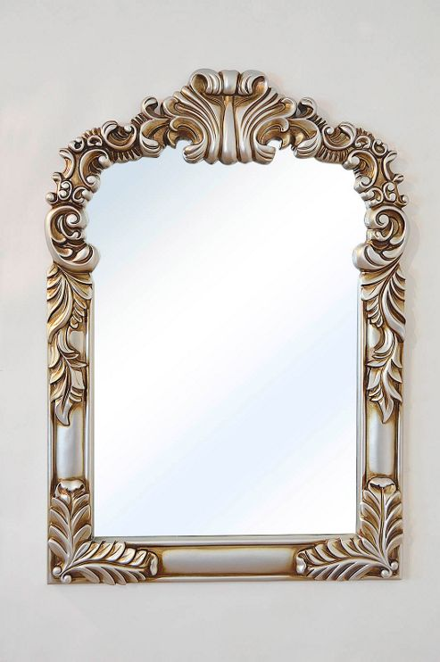 Buy large arched baroque antique silver portrait wall for Large portrait mirror