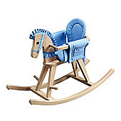 Teamson Kids Safari Natural Rocking Horse - Blue