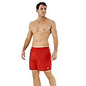 Speedo Men's Solid Quick Drying Leisure Swimming Shorts - Red