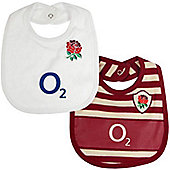 England Rugby Baby Bibs 2 Pack - One Size