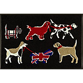 Wash & Dry by Kleen-Tex British Dogs Flat Bordered Rug - 50cmx75cm