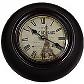 Wicker Valley Ville De Paris Wall Clock