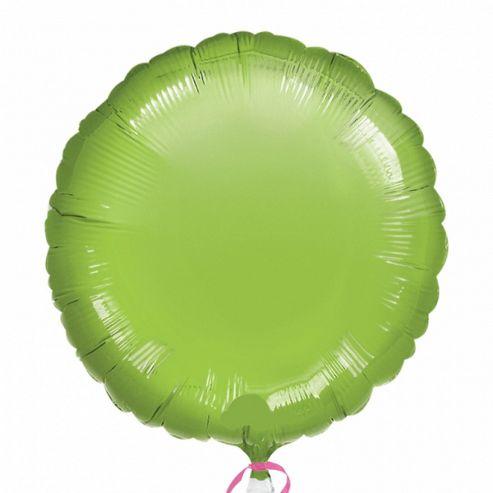 Party - 18/45cm Circle Foil Balloon - LIME GREEN - 21631 - Amscan