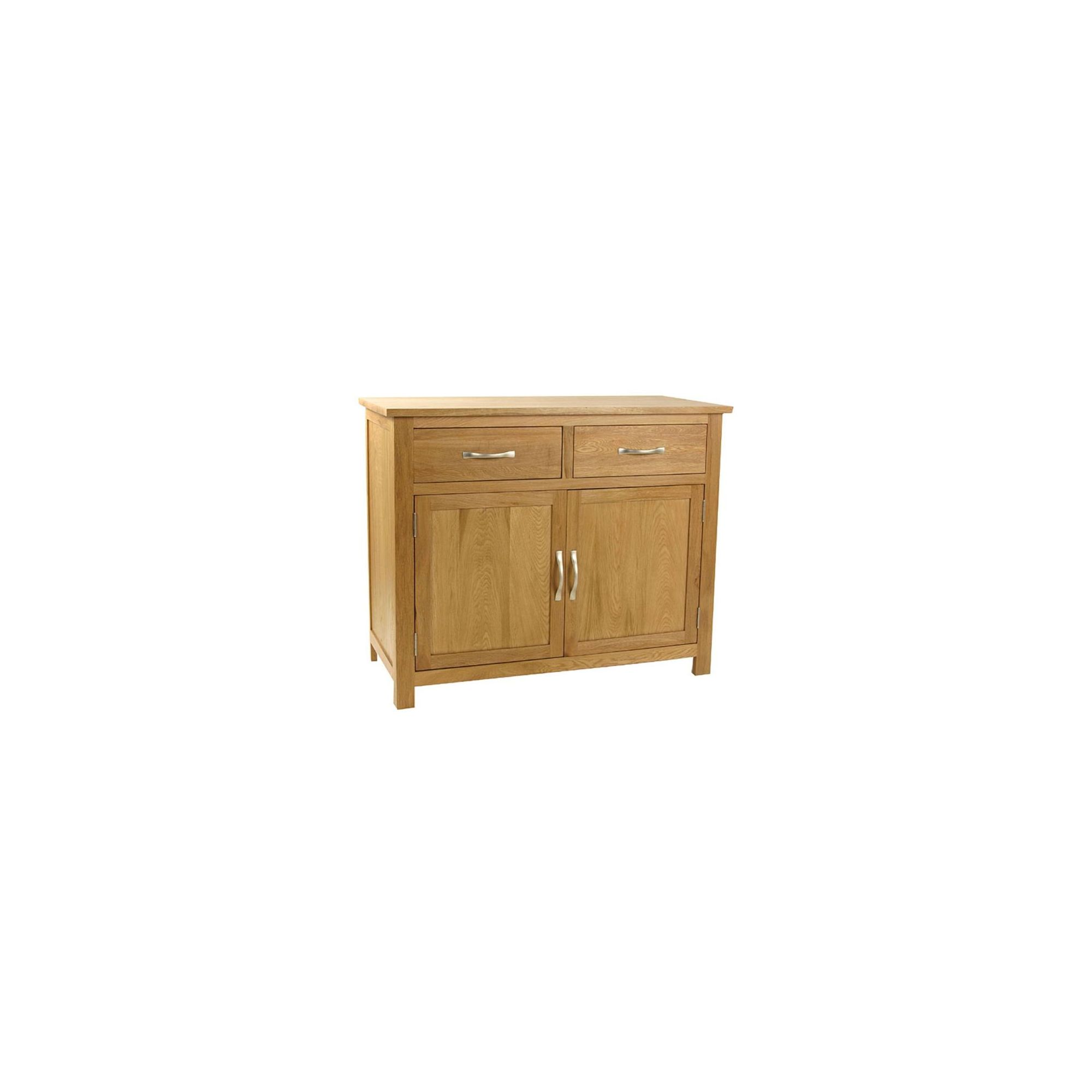 Kelburn Furniture Essentials 2 Drawer Sideboard in Light Oak Stain and Satin Lacquer at Tescos Direct
