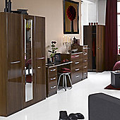 Alto Furniture Visualise Murano Three Door Wardrobe in High Gloss Walnut