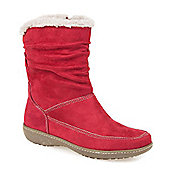 Pavers Faux Fur Lined Calf Boot - Red