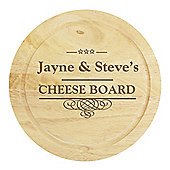Personalised Large Cheese Board with Cheese Knives