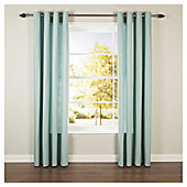 Tesco Plain Canvas Eyelet Curtains - Eau de nil