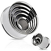 Pack of Four Stainless Steel Ear Stretching Tunnels Fused Layers