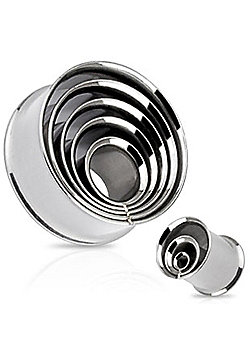 Urban Male Pack of Four Stainless Steel Ear Stretching Tunnels Fused Layers