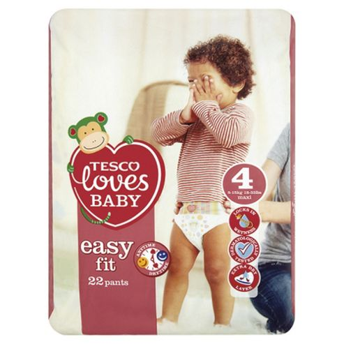 Tesco Loves Baby Easy Fit Size 4 Maxi Carry Pk 22