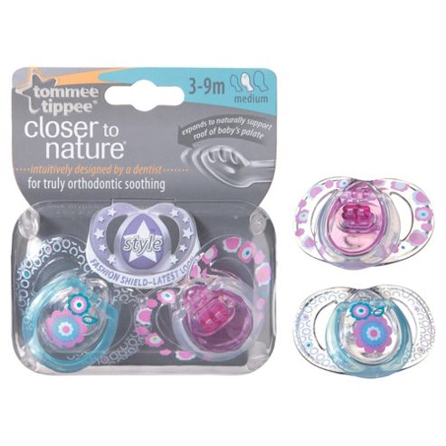 Tommee Tippee Closer To Nature Style Soothers 3-9 months x2