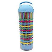 Tesco Picnic Acrylic Straw Dispenser tropic stripe
