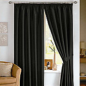 Dreams N Drapes Java Eyelet Lined Curtain - 167.64cm x 137.16cm - Black