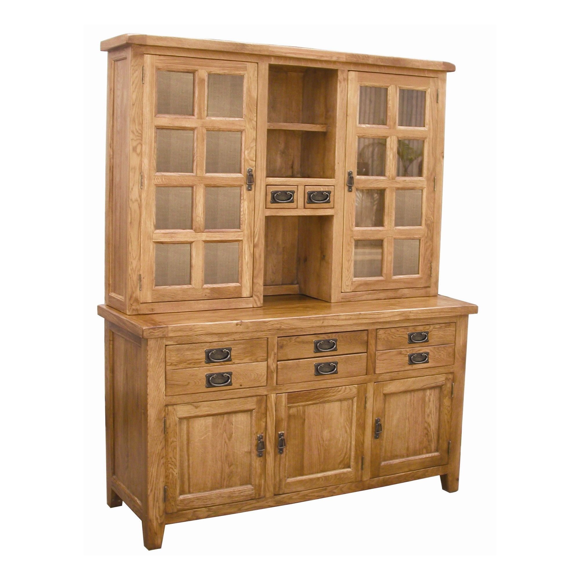Wiseaction Florence Sideboard and Hutch with Clear Glass at Tesco Direct