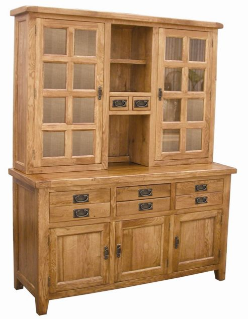 Wiseaction Florence Sideboard and Hutch with Clear Glass
