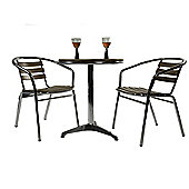 Aluminium & Ash Set 2 Seater - Outdoor/Garden table and Chair set.
