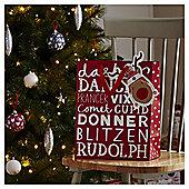 Large Rudolph Christmas Gift Bag