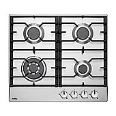 Amica PGZ6411X 4 Burner Gas Hob - Stainless Steel