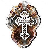 Iron Stop Designer Celtic Cross Wind Spinner 10in