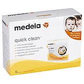 Medela Quick Clean Microwave Strerilising Bags - 5 Pack