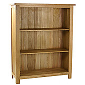 Kelburn Furniture Essentials Low Bookcase in Light Oak Stain and Satin Lacquer