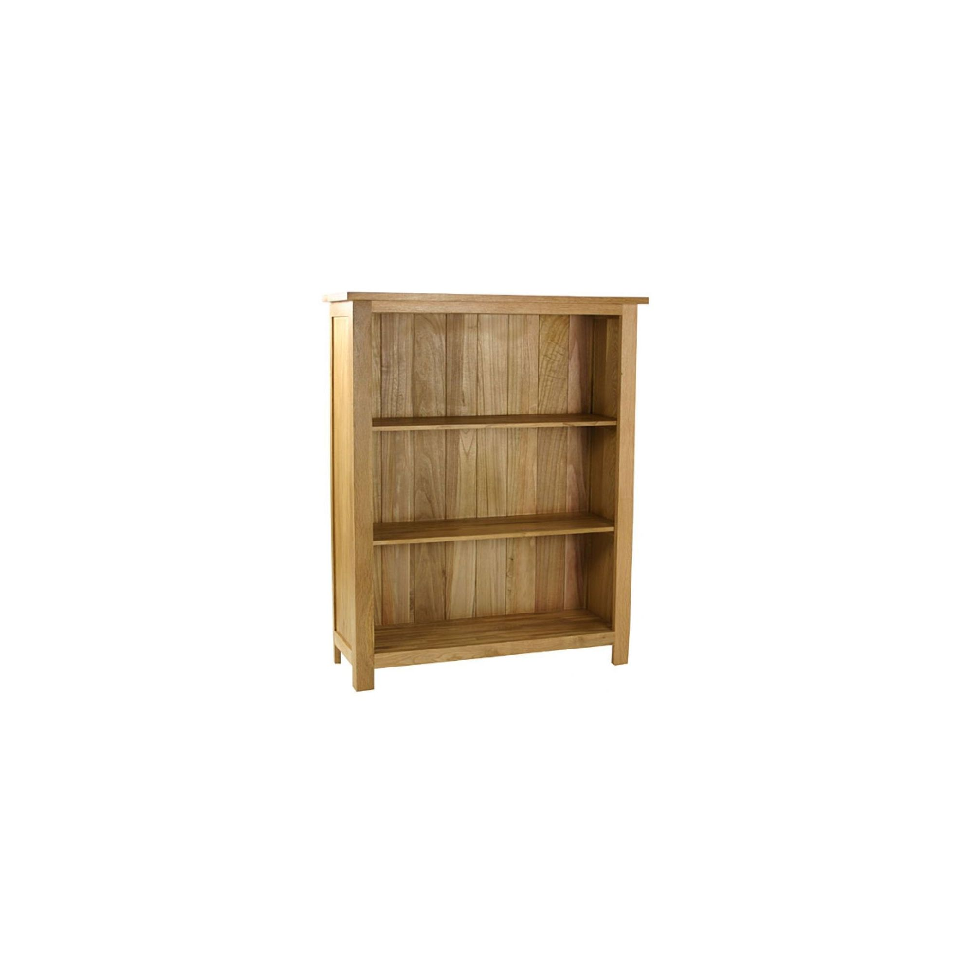 Kelburn Furniture Essentials Low Bookcase in Light Oak Stain and Satin Lacquer at Tesco Direct