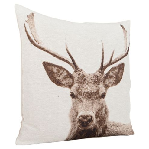 Stag Head Cushion
