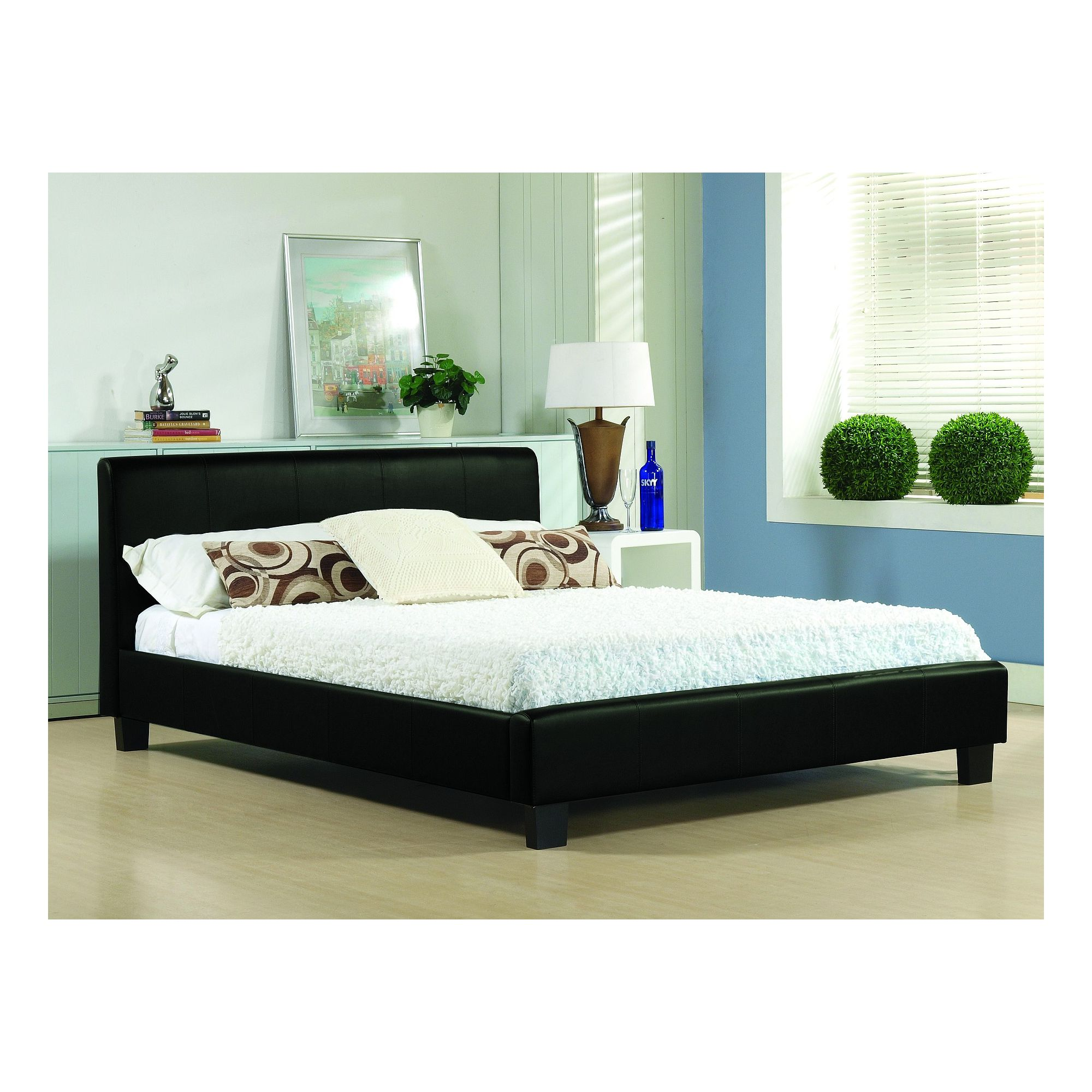 Altruna Hamburg Real Leather Bed Frame - King at Tesco Direct