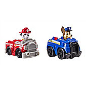 PAW PATROL BUNDLE - Paw Patrol Racers CHASE AND Paw Patrol Racers MARSHALL - 2 ITEMS SUPPLIED