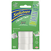 Sellotape Clever Tape 18mm x 15m Triple Pack